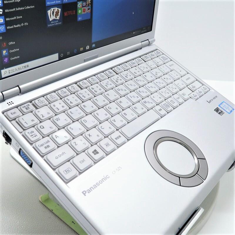 【美品】Panasonic Let's note CF-SZ5HDDKS Windows 10 Pro(64bit) Core i5 6200U (2.3GHz/DualCore/3MB) メモリ4GB 320GB HDD 12.1インチ