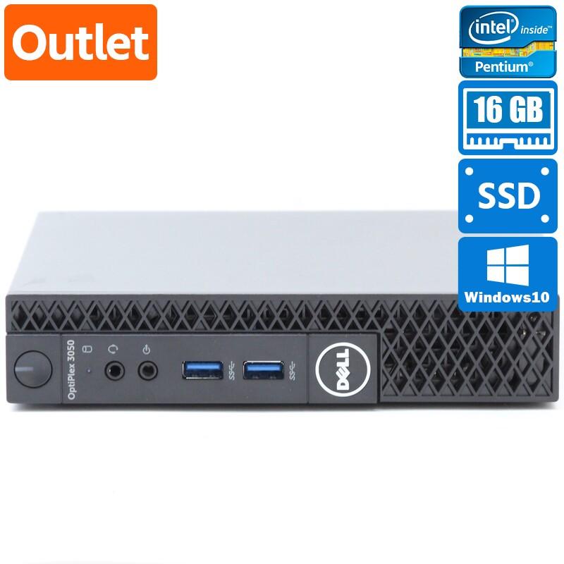【Outlet】Dell OptiPlex 3050 Micro Windows 10 Home(64bit) Pentium G@ G4400T (2.9GHz/DualCore/3MB) メモリ 4GB 128GB SSD