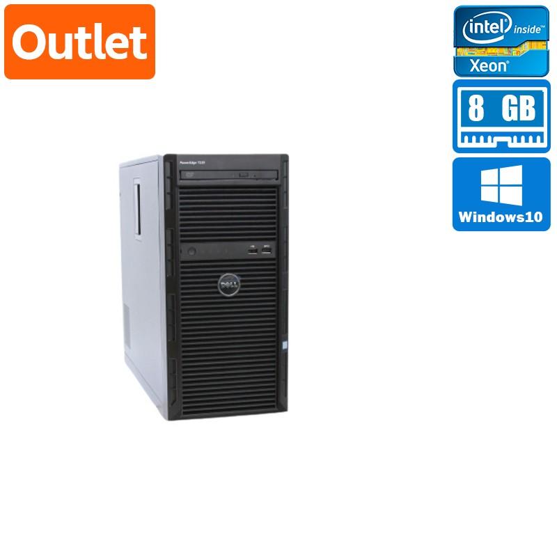 【美品】Dell PowerEdge T130 Windows Server 2012 R2 Standard Xeon E3-1220v6(3.0GHz) メモリ 8GB 4TB HDD x4