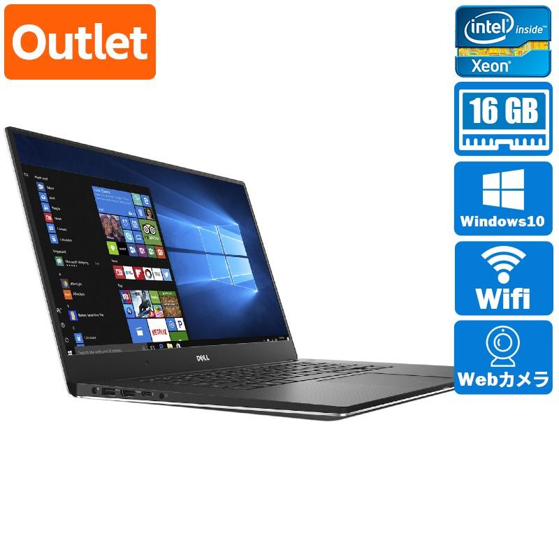 【Outlet】Dell Precision 5520 Windows 10 Pro(64bit) Xeon E3 1505M v6 (3.0GHz/QuadCore/8MB) メモリ 16GB 500GB HDD 15.6インチ