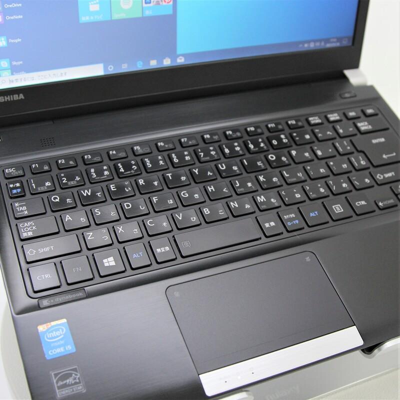 【並品】TOSHIBA dynabook R734/K Windows 10 Pro(64bit) Mobile Core i5 4300M (2.6GHz/DualCore/3MB) メモリ 8GB (4GB×2)  320GB HDD 13.3インチ