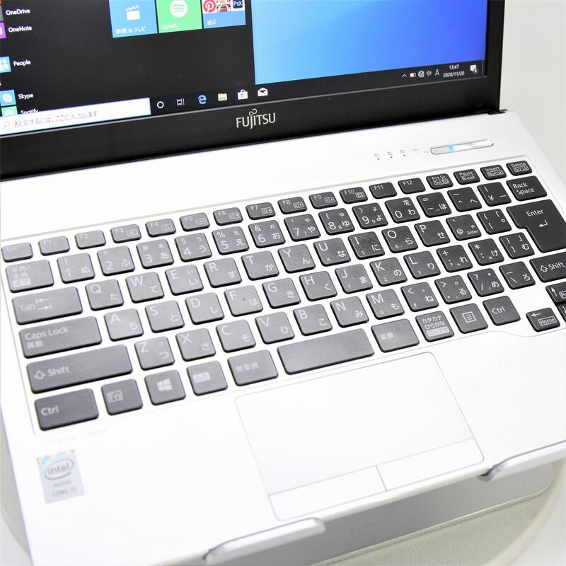 【並品】FUJITSU LifeBook S904/J FMVS02004 Windows 10(64bit) Mobile Core i5 4300U (1.9GHz/DualCore/3MB) メモリ 4GB 128GB;SSD 13.3インチ