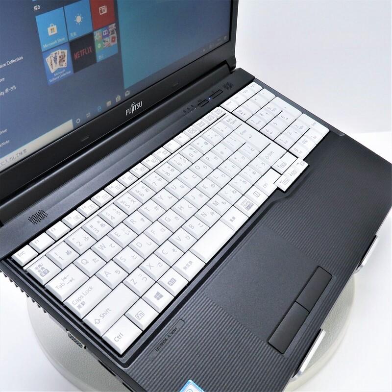 【美品】FUJITSU LifeBook A746/P FMVA15014 Windows 10 Pro(64bit) Core i7 6600U (2.6GHz/DualCore/4MB) メモリ 8GB 128GBSSD 15.6インチ WPSオフィス付き