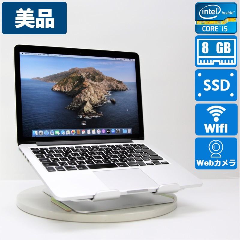 【美品】Apple MacBookPro12,1(Early 2015) macOS Catalina 10.15.3 Intel(R) Core(TM) i5 5257U CPU @ 2.70GHz メモリ 8GB (4GB×2)  128GB SSD 13.3インチ
