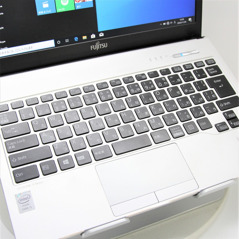 【並品】FUJITSU LifeBook S935/K FMVS03002 Windows 10(64bit) Mobile Core i5 5300U (2.3GHz/DualCore/3MB) メモリ 4GB(2GB×2) 320GB 13.3インチ