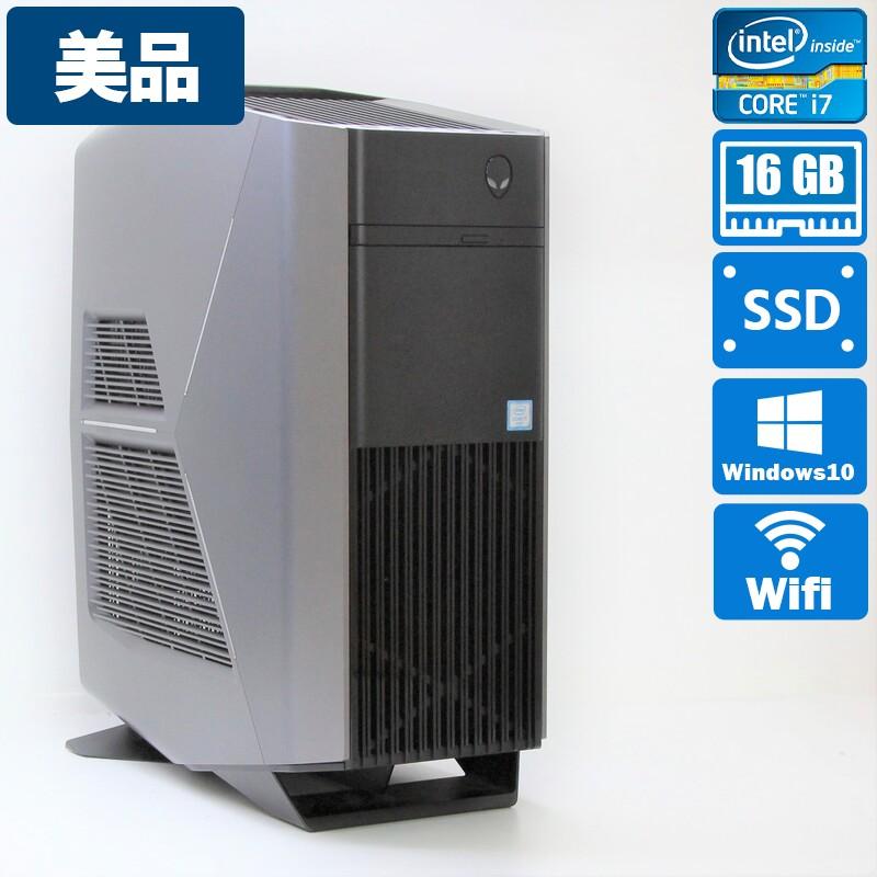 【美品】Dell Alienware Aurora R5 Windows 10 Home(64bit) Intel(R) Core(TM) i7-6700 CPU @ 3.40GHz メモリ 16GB HDD 2000GB + SSD 256GB ゲーミングPC