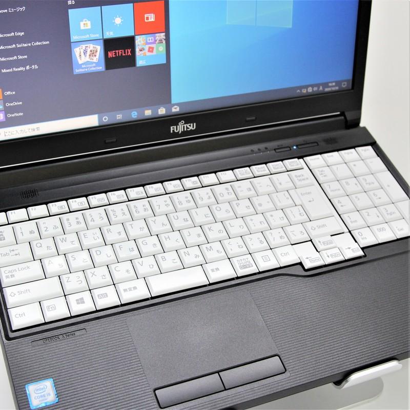【美品】FUJITSU LifeBook A576/P FMVA16004 Windows 10 Pro(64bit) Core i5 6300U (2.4GHz/DualCore/3MB) メモリ 8GB 500GB 15.6インチ WPSオフィス付き