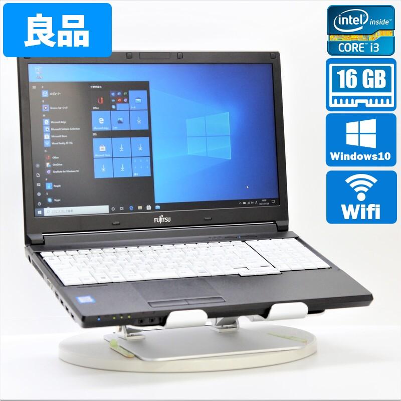 【良品】FUJITSU FMVA2201DP Windows10 Pro(64bit) Core i3 7100U (2.4GHz/DualCore/3MB) メモリ 16GB (8GB×2)  500GB HDD 15.6インチ