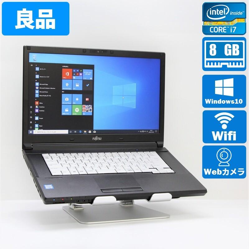 【良品】FUJITSU A746/S  FMVA23022 Windows10 Pro(64bit) Core i7 6600U (2.6GHz/DualCore/4MB) メモリ 12GB (4GB+8GB) 320GB HDD 15.6インチ