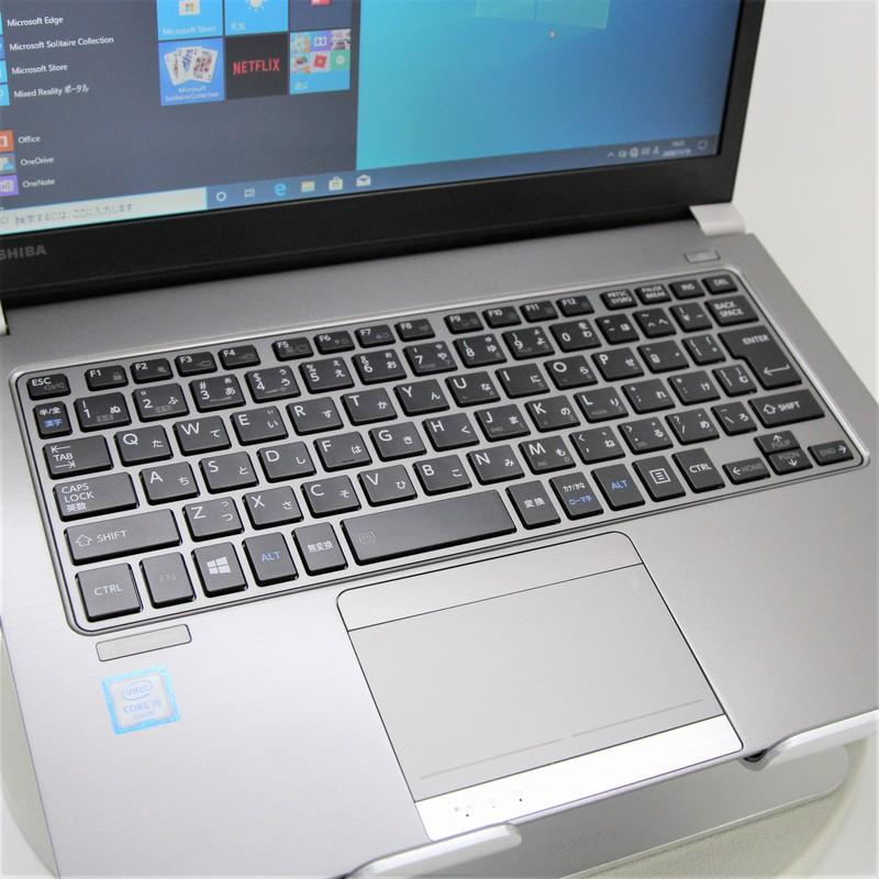 【並品】TOSHIBA dynabook R63/D Windows 10 Pro(64bit)Core i5 6300U (2.4GHz/DualCore/3MB) メモリ 8GB (4GB×2) 128 GB SSD 13.3インチ