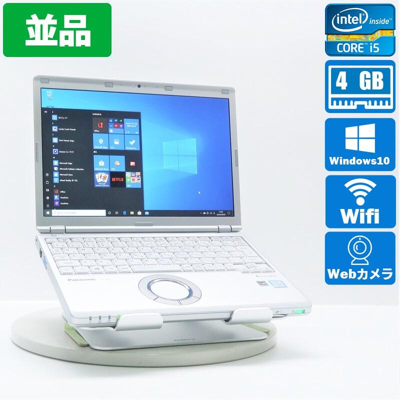 【並品】Panasonic Let's note CF-SZ5HDDKS Windows 10 Pro(64bit) Core i5 6200U (2.3GHz/DualCore/3MB) メモリ4GB 320GB HDD 12.1インチ