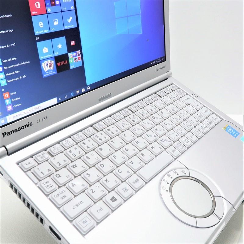 【並品】Panasonic Let's note CF-SX3EDHCS Windows 10 Pro(64bit) Mobile Core i5 4300U (1.9GHz/DualCore/3MB) メモリ8GB (4GB×2) 320GB 12.1インチ