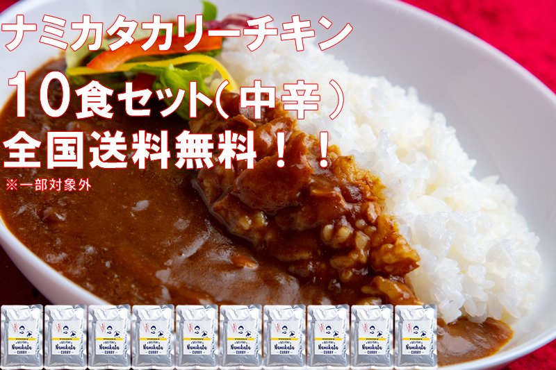 Namikata Curry Chicken ナミカタカリー チキン 10食 セット 送料無料 コロナ 対策 応援