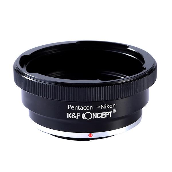 K&F Concept レンズマウントアダプター KF-P6K60F (ペンタコンシックス│キエフ60マウントレンズ → ニコンFマウント変換)