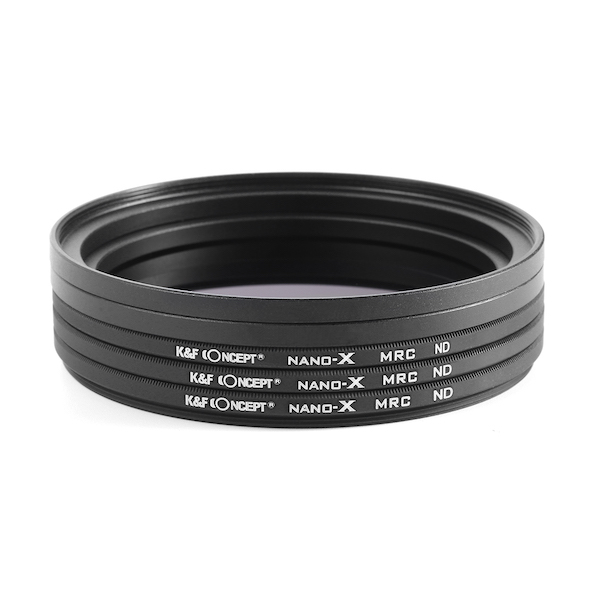K&F Concept NDフィルターキット NANO-X ND4 + ND8 + ND16 62mm