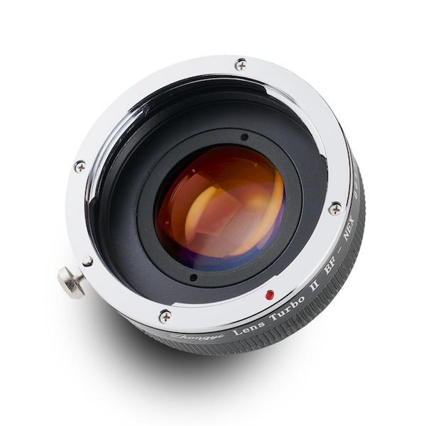 Lens Turbo II EF-NEX キヤノンEFマウントレンズ - ソニーNEX/α Eマウント フォーカルレデューサーアダプター