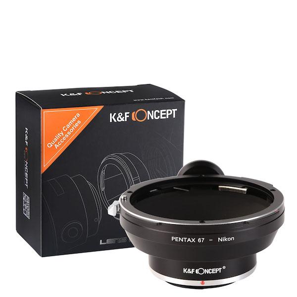 K&F Concept レンズマウントアダプター KF-P67F (ペンタックス67マウントレンズ → ニコンFマウント変換)
