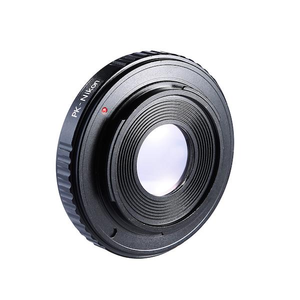 K&F Concept レンズマウントアダプター KF-PKF (ペンタックスKマウントレンズ → ニコンFマウント変換)無限遠補正レンズ付き