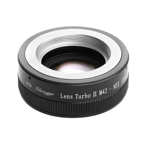 Lens Turbo II M42-NEX M42マウントレンズ - ソニーNEX/α Eマウント フォーカルレデューサーアダプター
