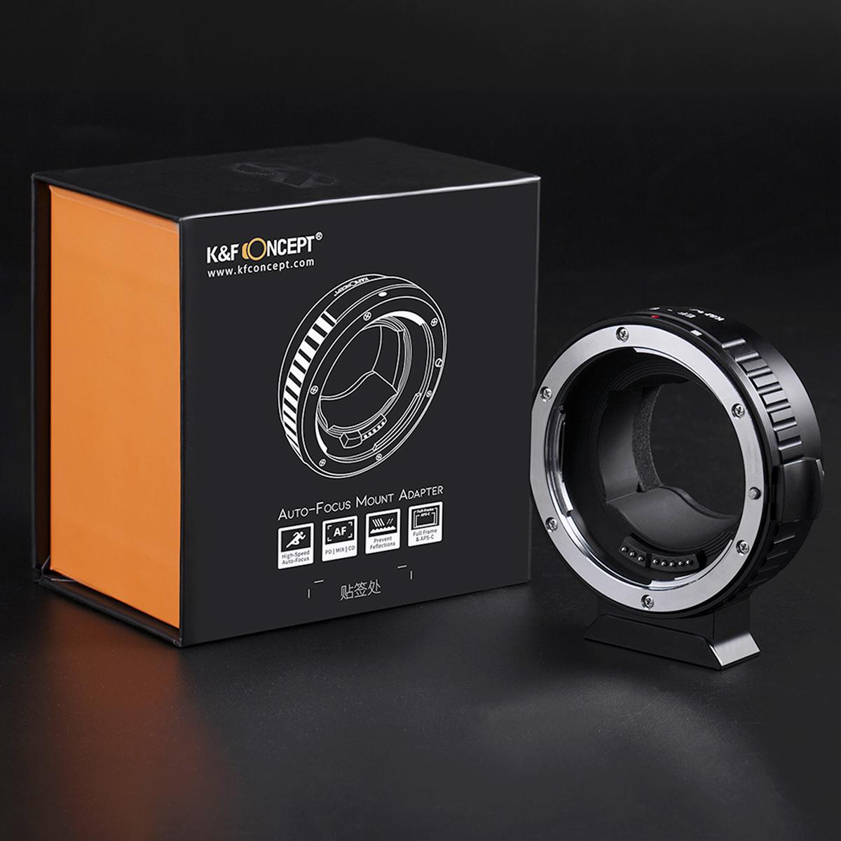 K&F Concept EF-E AF II(キヤノンEFマウントレンズ → ソニーEマウント変換)電子接点付き