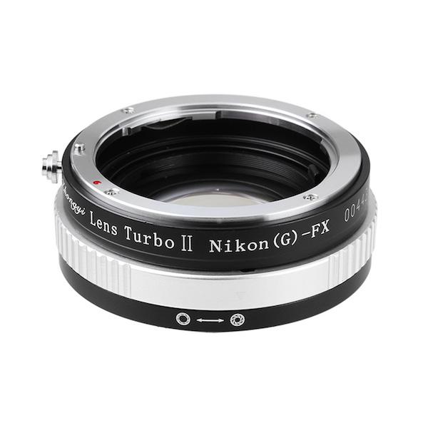 Lens Turbo II N/G-FX ニコンFマウントレンズ - 富士フイルムXマウント フォーカルレデューサーアダプター