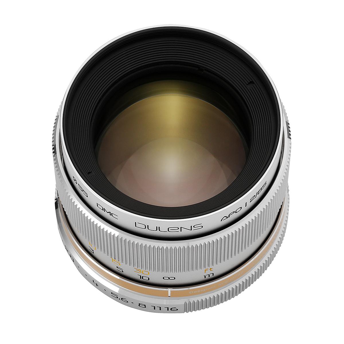 毒鏡 DULENS APO 85mm F2 単焦点レンズ シルバー