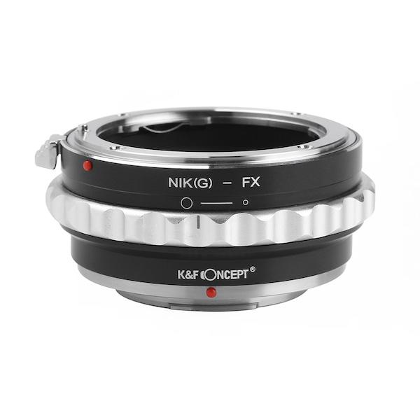 K&F Concept KF-NGX2(ニコンFマウント[Gタイプ対応]レンズ → フジフイルムXマウント変換)絞りリング付き