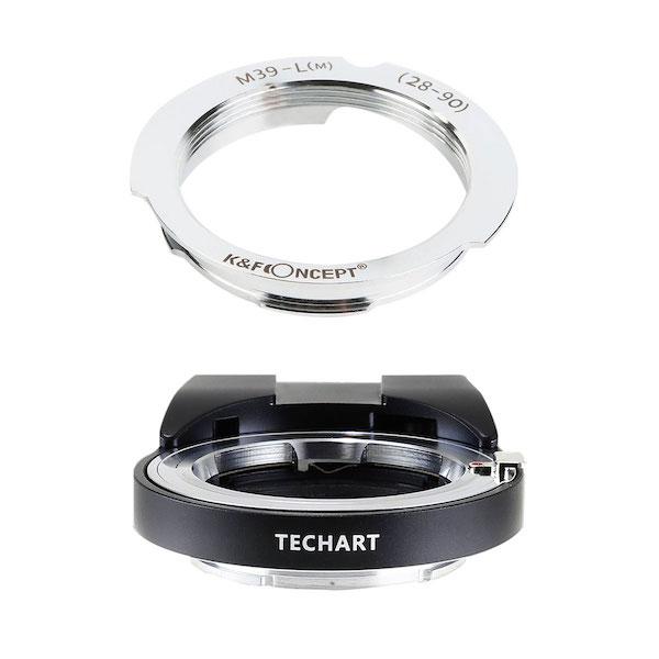 TECHART LM-EA7 + K&F Concept KF-LM-2890|ライカLレンズ28/90mm用マウントアダプターセット