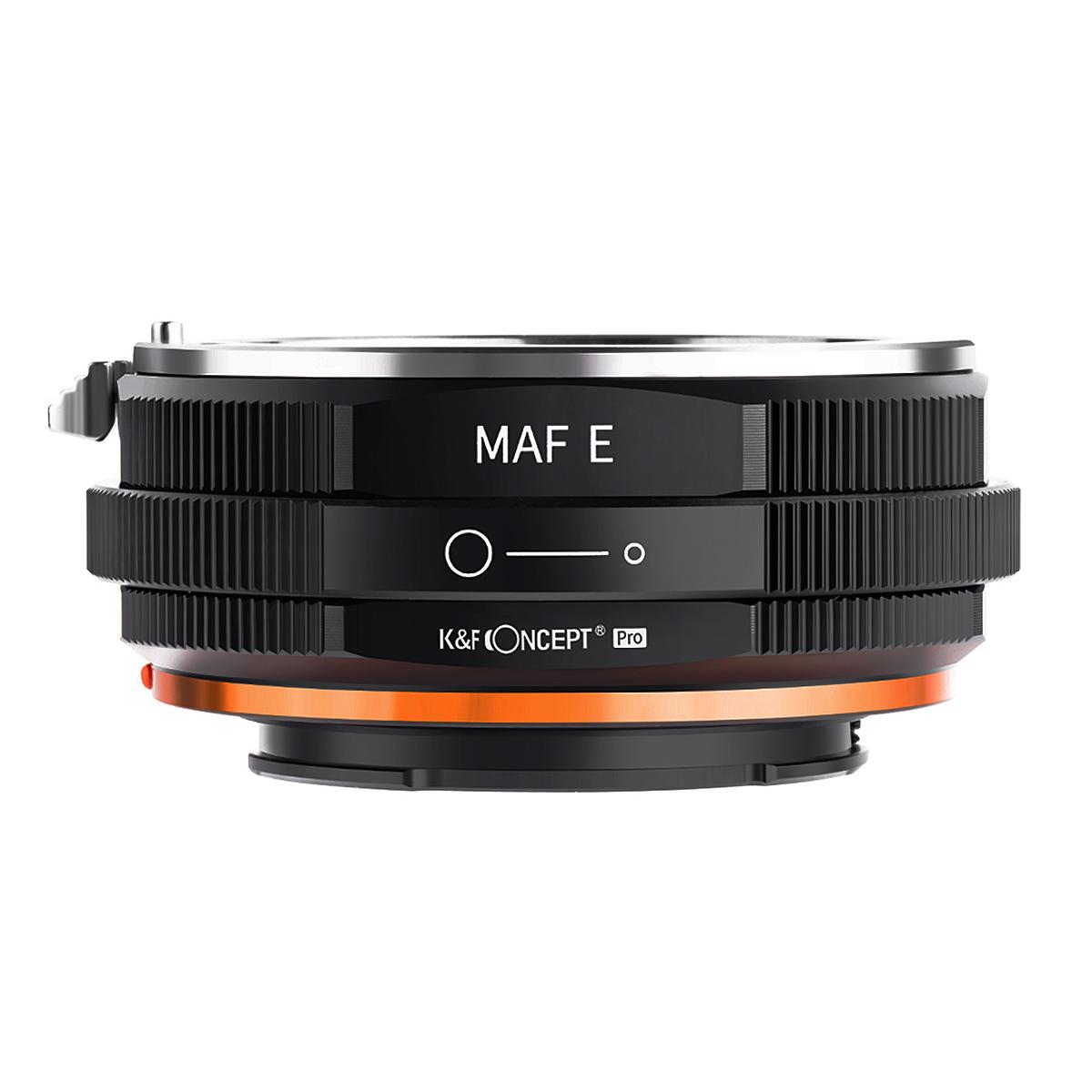 K&F Concept KF-AAE.P(ソニー[ミノルタ]Aマウントレンズ → ソニーEマウント変換)レンズマウントアダプター 絞りリング付き