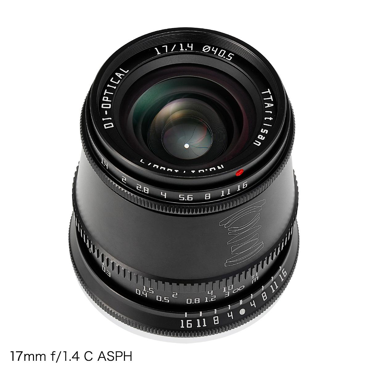 銘匠光学 TTArtisan レンズ3本セット 17mm f/1.4 C ASPH + 35mm f/1.4 C + 50mm f/1.2 C