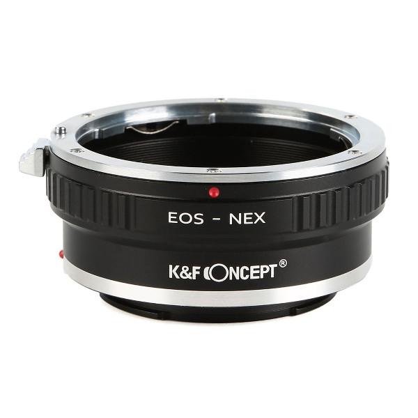 K&F Concept レンズマウントアダプター KF-EFE-T (キャノンEFマウントレンズ → ソニーEマウント変換)三脚座付き