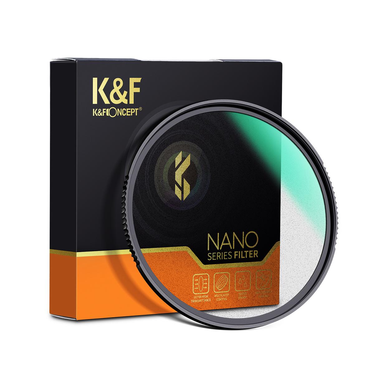 K&F Concept NANO-X ブラックディフュージョン 1/1 フィルター KF- (49-82) BD1/1 (ブラックミスト)