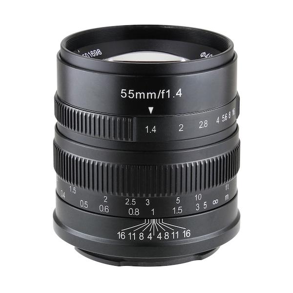 七工匠 7Artisans 55mm F1.4 ブラック 単焦点レンズ