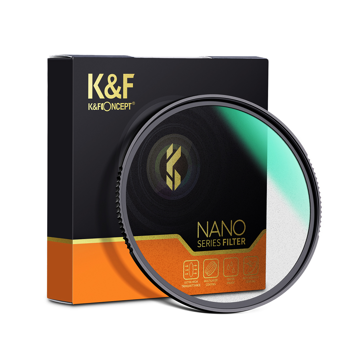 K&F Concept NANO-X ブラックディフュージョン 1/2 フィルター KF- (49-82) BD1/2 (ブラックミスト)