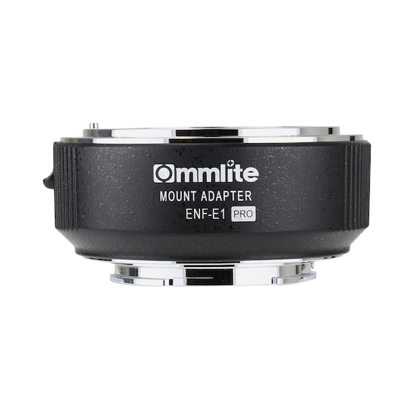 Commlite CM-ENF-E1 PRO 電子マウントアダプター(ニコンFマウントレンズ → ソニーEマウント変換)