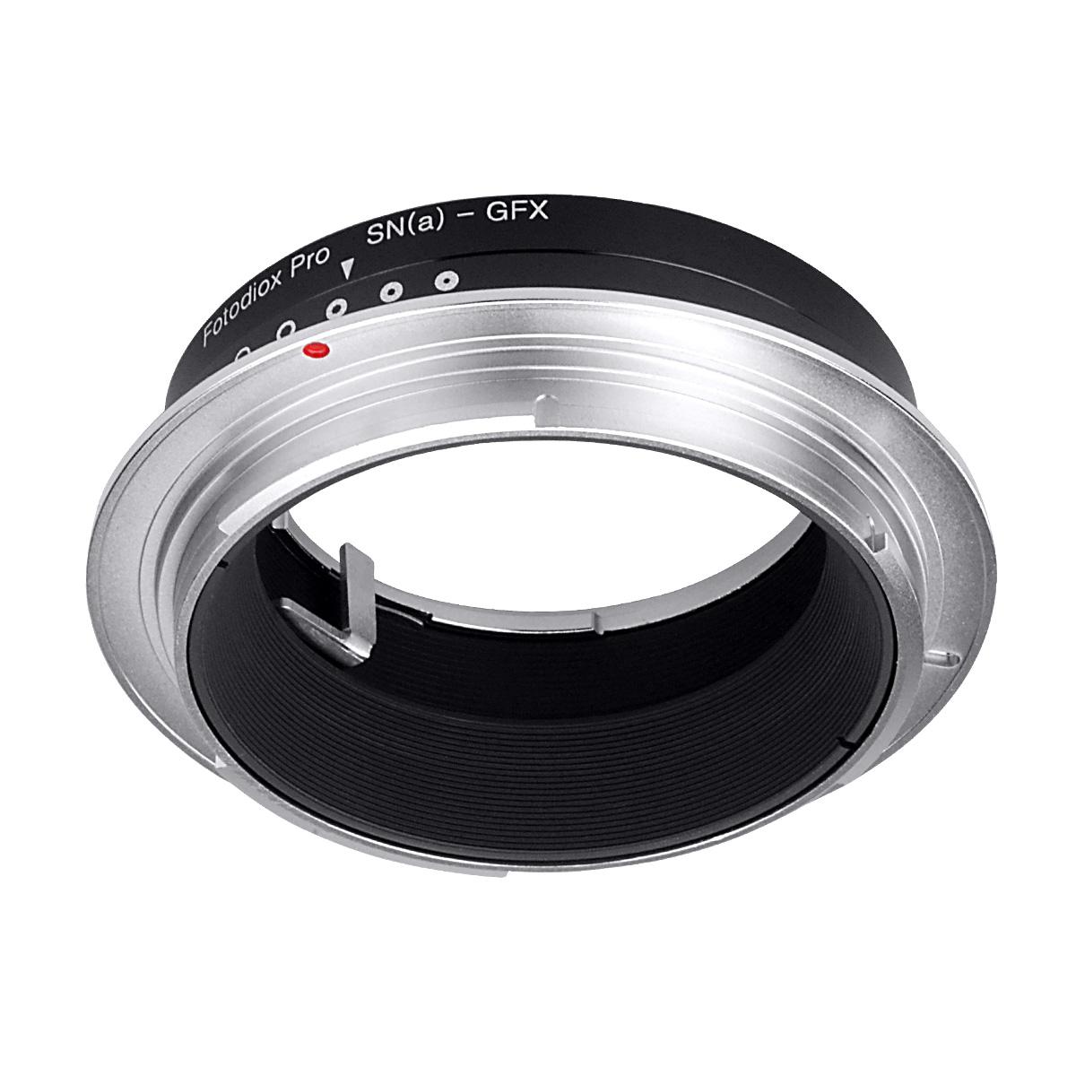 Fotodiox SnyA-GFX(ソニー(ミノルタ)Aマウントレンズ → 富士フイルムGマウント変換)絞りリング付き マウントアダプター