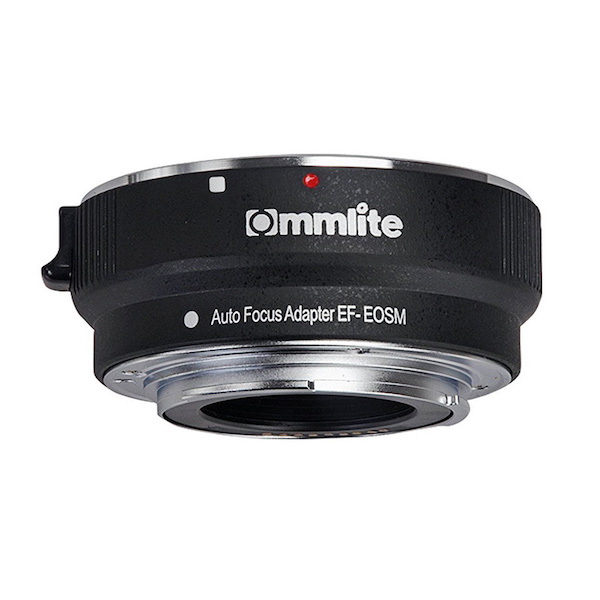 Commlite CM-EF-EOSM 電子マウントアダプター(キヤノンEFマウントレンズ → キヤノンEF-Mマウント変換)
