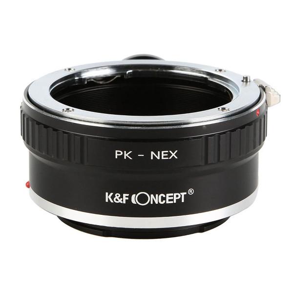 K&F Concept レンズマウントアダプター KF-PKE-T (ペンタックスKマウントレンズ → ソニーEマウント変換)三脚座付き