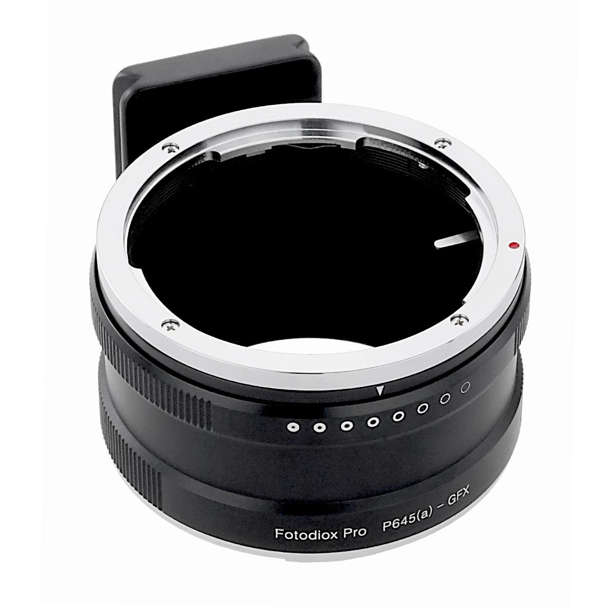 Fotodiox P645a-GFX(ペンタックス645 (DAレンズ対応)マウントレンズ → 富士フイルムGマウント変換)絞りリング付き マウントアダプター