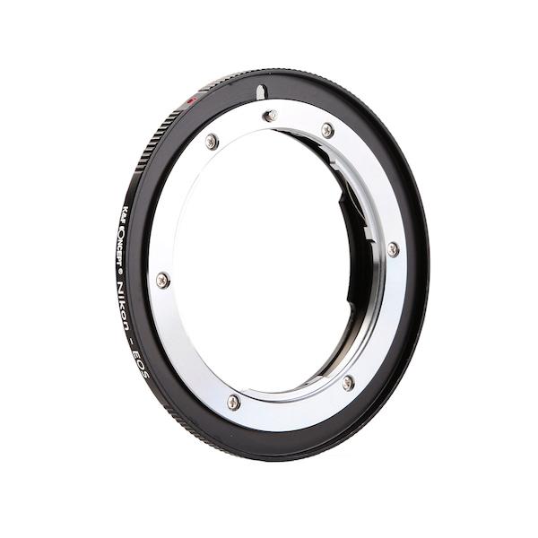 K&F Concept レンズマウントアダプター KF-NFEF-E (ニコンFマウントレンズ → キヤノンEFマウント変換)電子接点付き