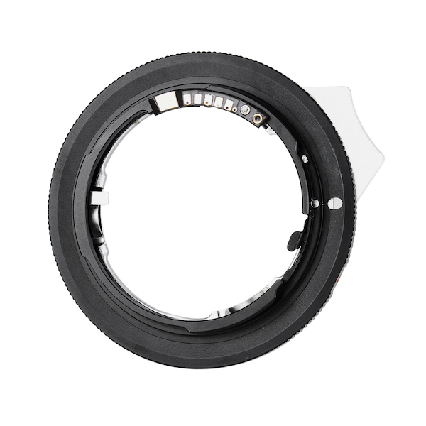 K&F Concept レンズマウントアダプター KF-NGEF-E(ニコンFマウント(Gタイプ対応)マウントレンズ → キヤノンEFマウント変換)絞りレバー付き、電子接点付き