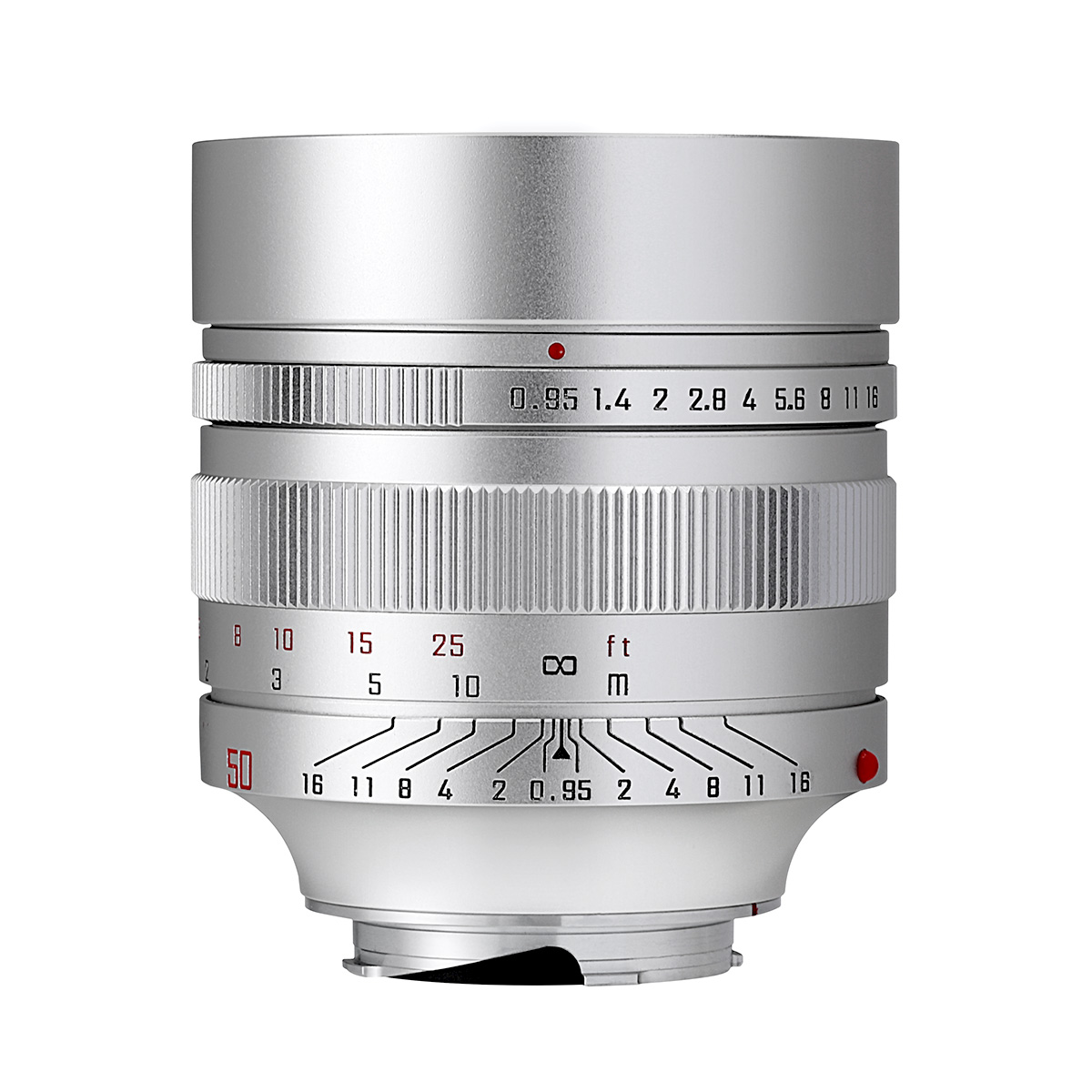 中一光学 SPEEDMASTER 50mm F0.95 ライカMマウント シルバー