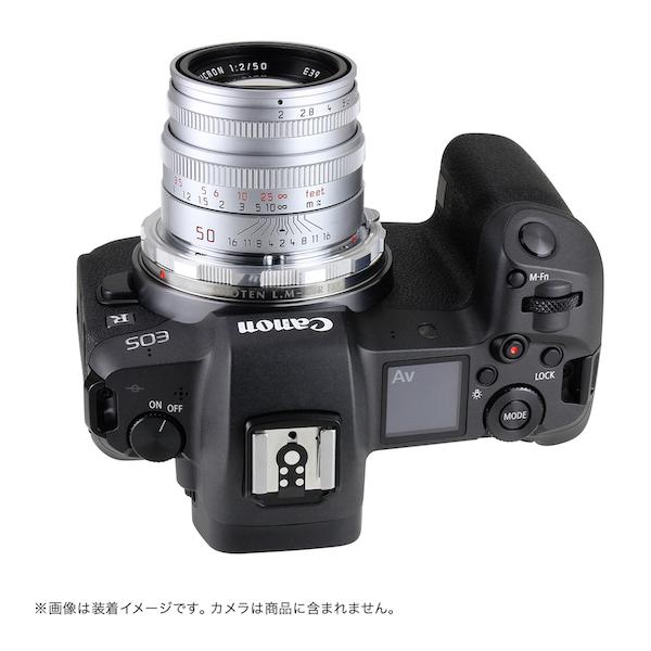 SHOTEN LM-CR EX (S)(ライカMマウントレンズ → キヤノンRFマウント変換)マウントアダプター シルバー