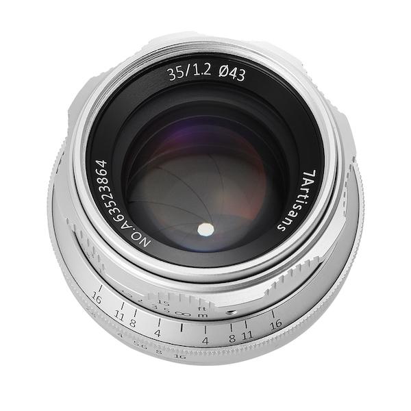 七工匠 7Artisans 35mm F1.2 単焦点レンズ シルバー