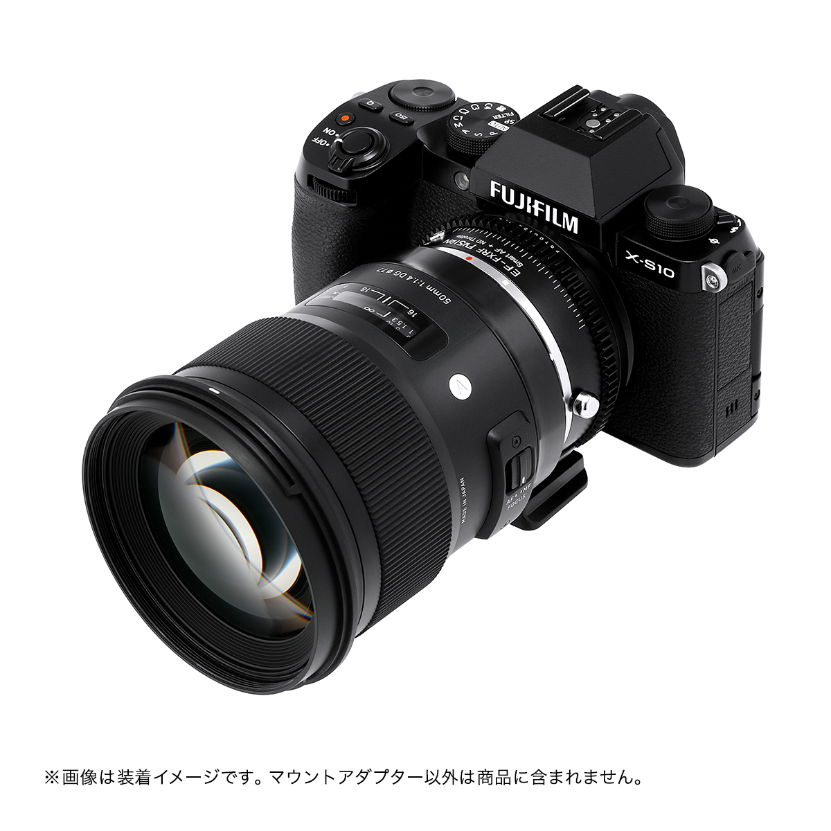 Fotodiox EF-FXRF-FSN-ND(キヤノンEFマウントレンズ → 富士フイルムXマウント変換)電子マウントアダプター 可変式NDフィルター内蔵 ファンクションボタン搭載