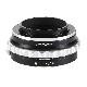 K&F Concept レンズマウントアダプター KF-DAE (ペンタックスKマウント(DAレンズ対応)レンズ → ソニーEマウント変換) 絞りリング付き