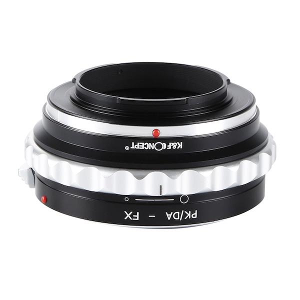 K&F Concept レンズマウントアダプター KF-DAX (ペンタックスKマウント(DAレンズ対応)レンズ → 富士フィルムXマウント変換) 絞りリング付き