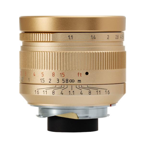 [限定モデル]七工匠 7Artisans 50mm F1.1 ゴールド 単焦点レンズ ライカMマウント