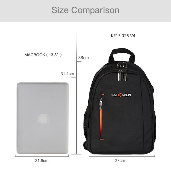 K&F Concept カメラバックパック KF-B026S Sサイズ