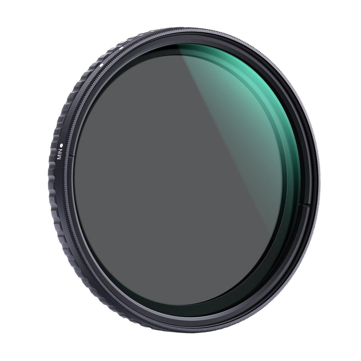 K&F Concept NANO-X バリアブル(可変式)NDフィルター Xムラ制御タイプ 減光範囲 ND2 - ND32|KF-NDX2-32